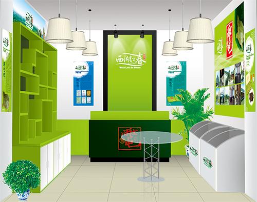 西湖之春品牌专卖店/店面展示设计/杭州包装设计/杭州圣海包装艺术设计有限公司
