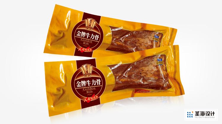 廚寶生制速凍食品/廚寶牛排/金牌牛力骨/杭州包裝設計/杭州圣海包裝藝術設計有限公司