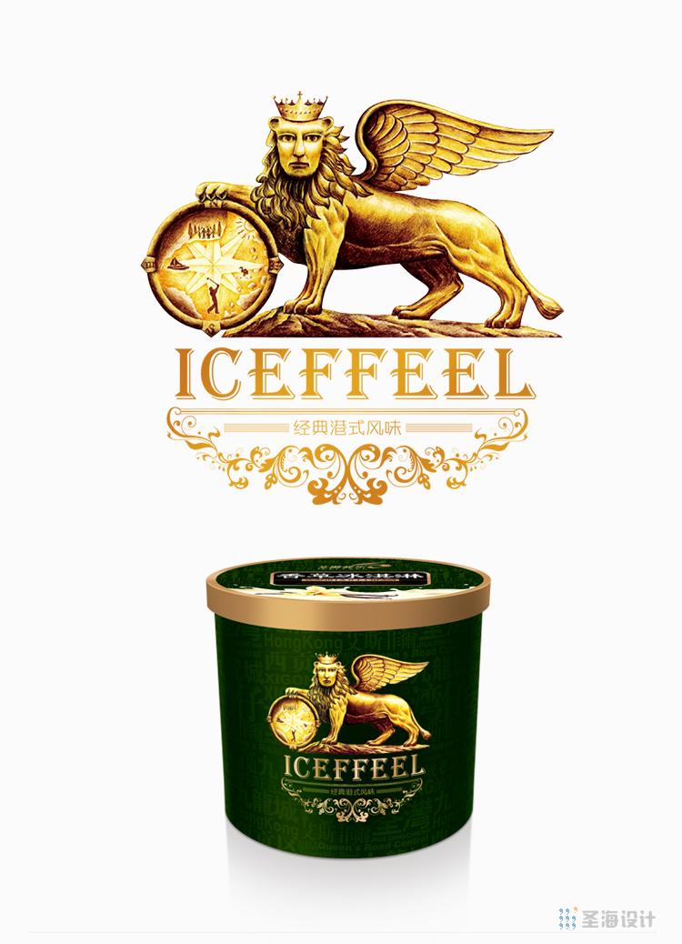 香港艾斯菲尔/经典港式风味/酒店专供冰淇淋/冰淇淋包装设计/香港甜点冰淇淋/杭州包装设计/杭州圣海包装艺术设计有限公司