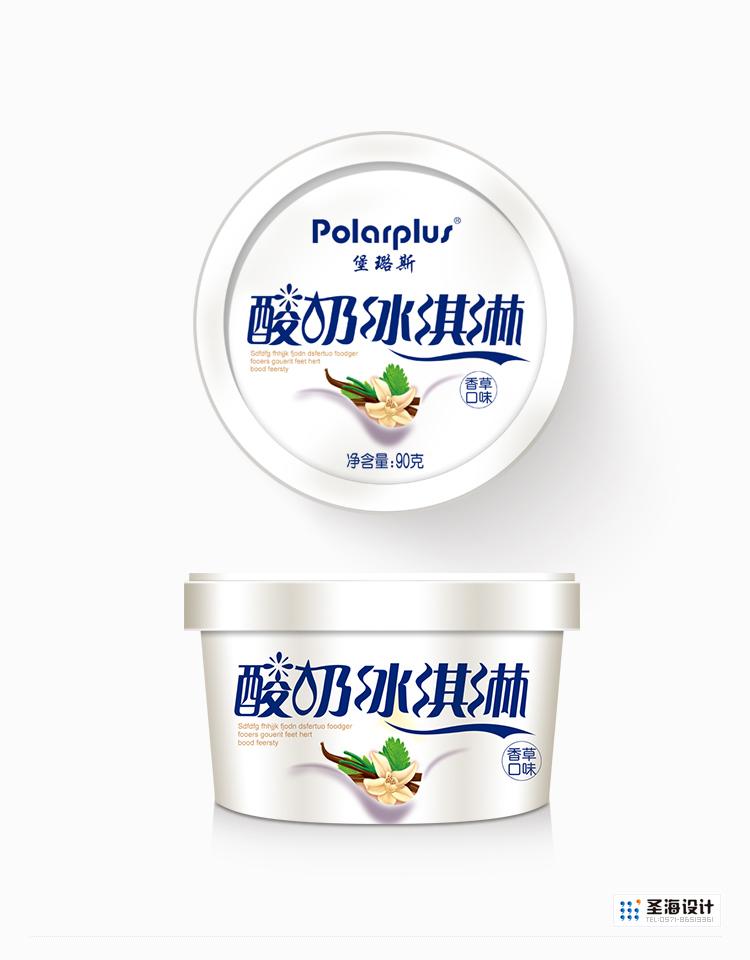 酸奶冰淇淋/香草味/杭州包装设计/杭州圣海包装艺术设计有限公司