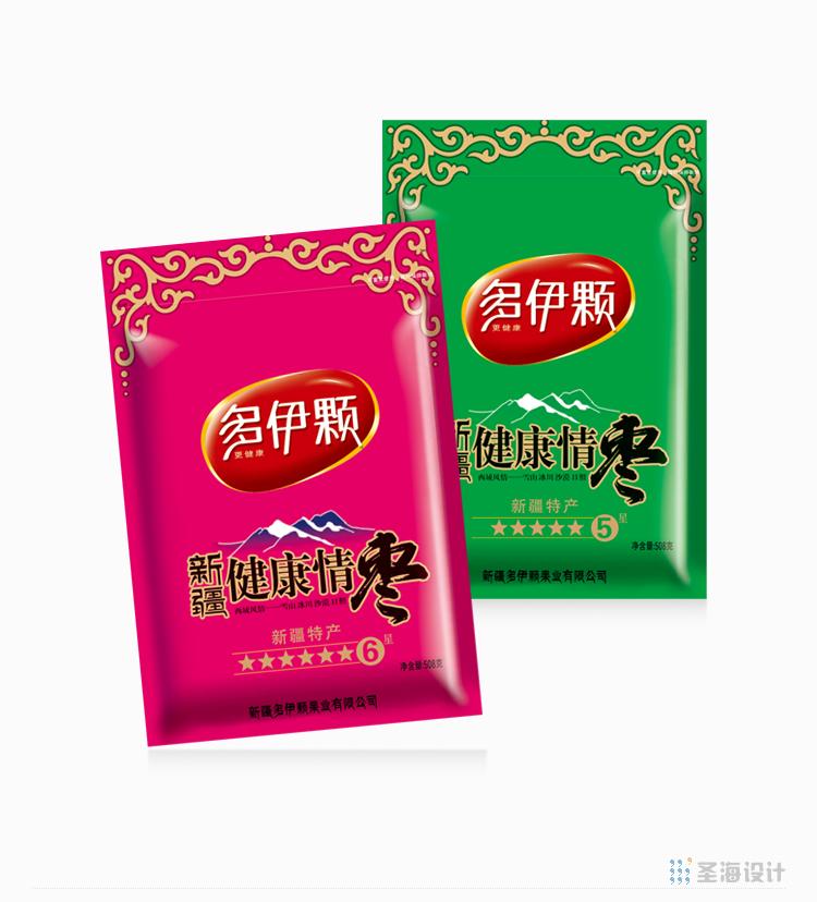 多伊顆紅棗/堅果/線上包裝/網店包裝/杭州包裝設計/圣海包裝設計