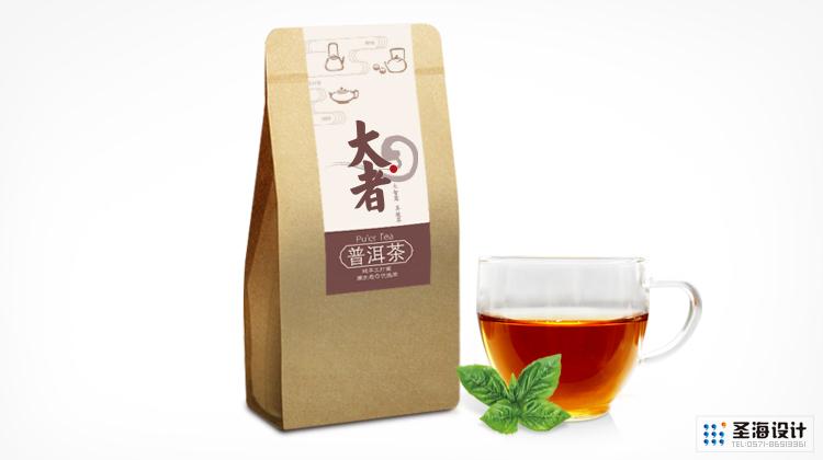 大者茶品牌設計/茶葉紙袋/紅茶/普洱茶/黑茶/白茶/杭州包裝設計/杭州圣海包裝藝術設計有限公司