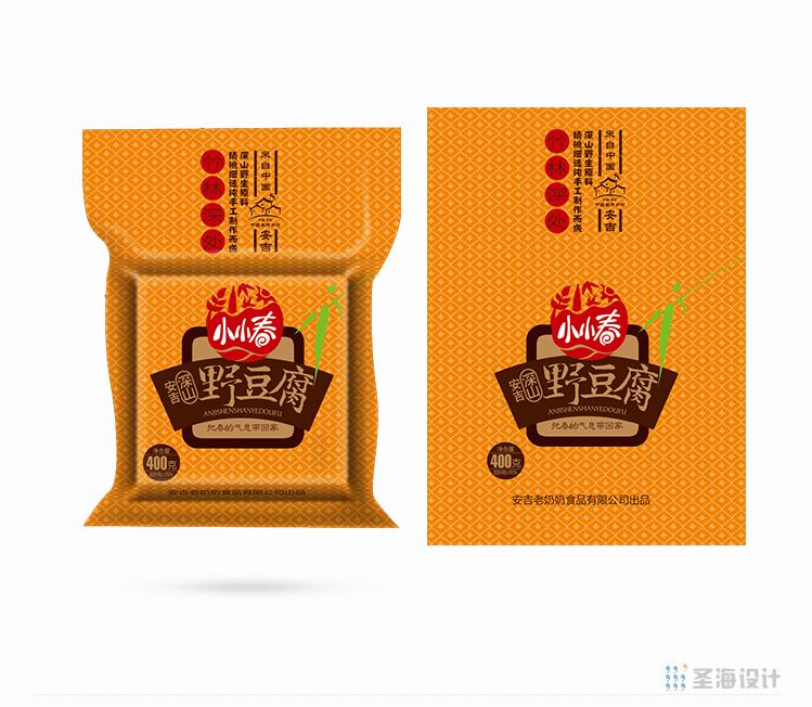 小小春安吉深山野豆腐/杭州包裝設計/圣海包裝設計