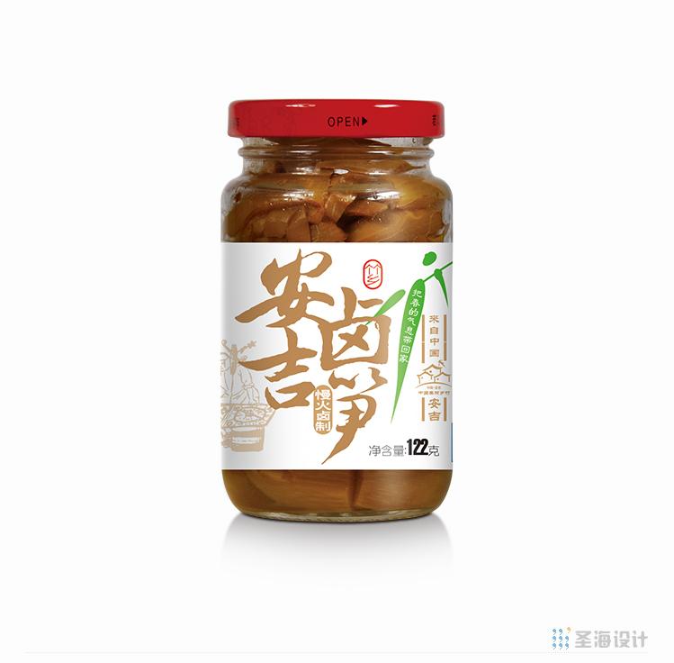 小小春安吉鹵筍/慢米鹵制/白茶/杭州包裝設計/圣海包裝設計