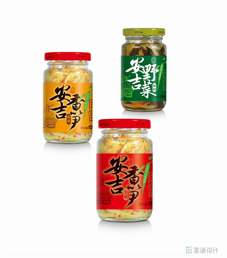 小小春安吉鹵筍/安吉香筍/安吉野菜/杭州包裝設計/圣海包裝設計