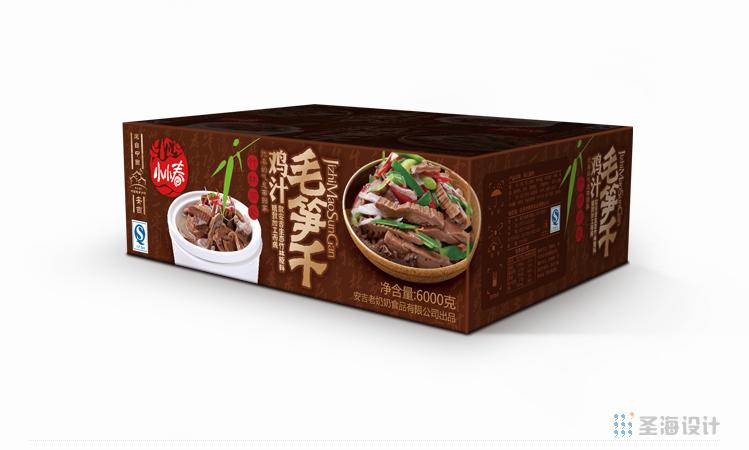 小小春雞汁毛筍干紙箱/杭州包裝設計/圣海包裝設計