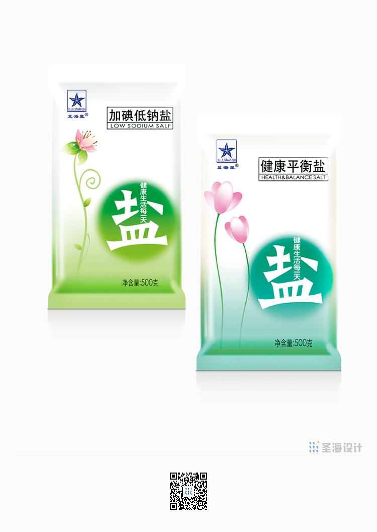 蓝海星食用盐|健康平衡盐|杭州圣海包装艺术设计有限公司|杭州包装设计