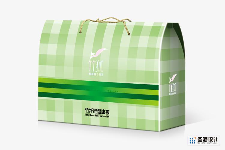 竹狐紡織品包裝/竹纖維生態紡織品|空調被|蠶絲被包裝/杭州包裝設計/杭州圣海包裝藝術設計有限公司