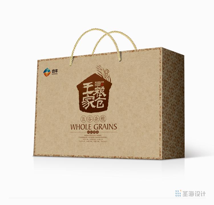 谷豐-王家糧倉五谷雜糧/綠豆/紅豆/杭州包裝設計/杭州圣海包裝藝術設計有限公司