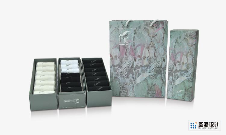竹狐紡織品包裝/竹纖維襪子/杭州包裝設計/杭州圣海包裝藝術設計有限公司