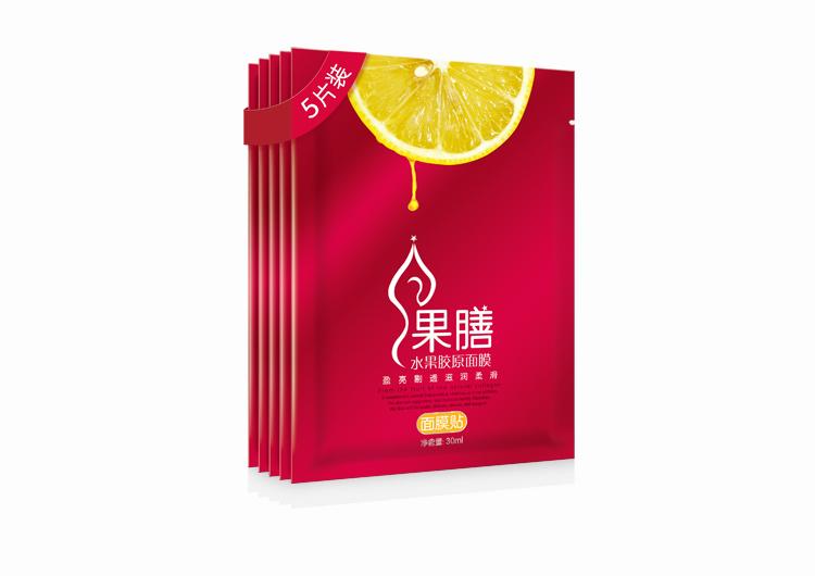 果膳體面膜/果膳水果膠原面膜/可以吃的面膜/杭州包裝設計/圣海包裝設計/圣海設計
