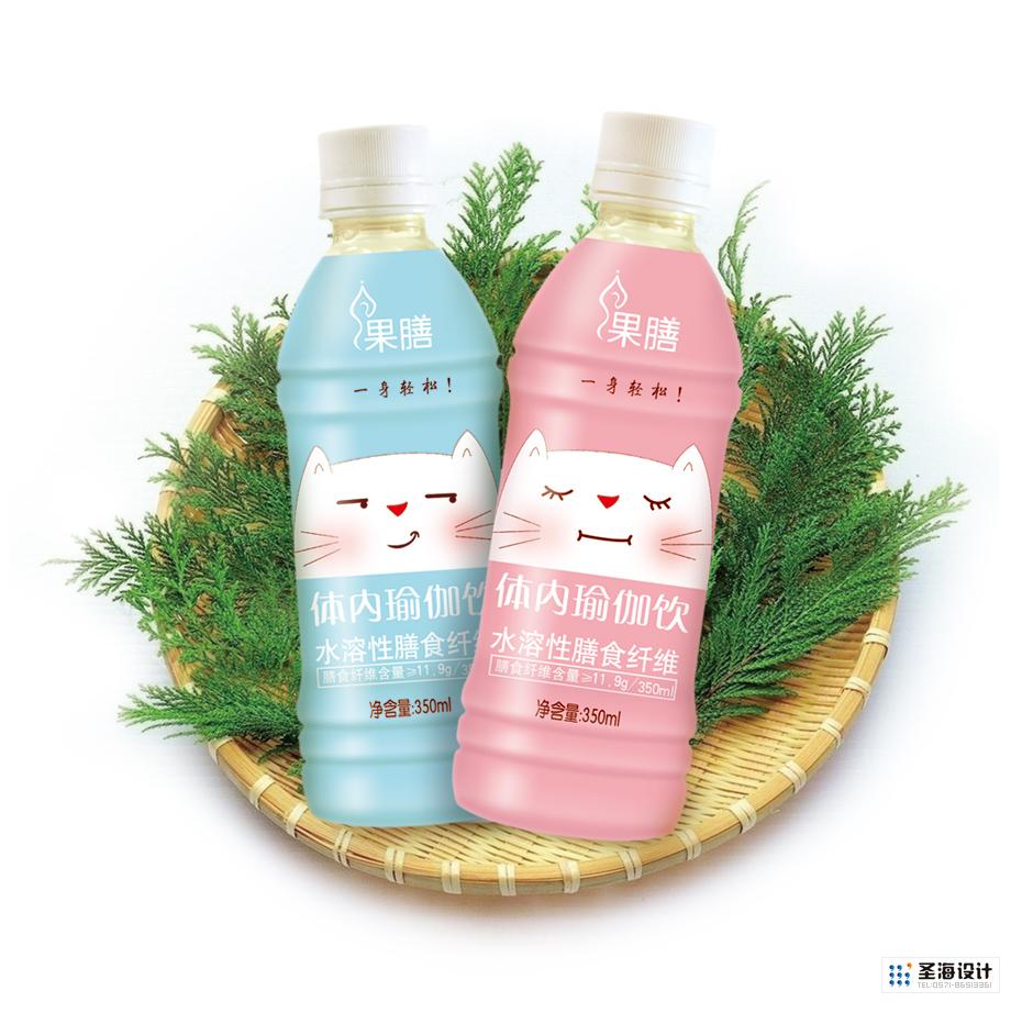 果膳水溶性膳食纤维(体内瑜伽饮)PET瓶饮料包装设计|果汁包装|瓶贴瓶标设计|杭州包装设计|杭州圣海包装艺术设计有限公司