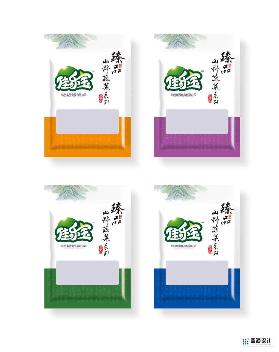 佳乐宝臻品山野蔬菜系列包装袋设计|杭州圣海包装艺术设计有限公司