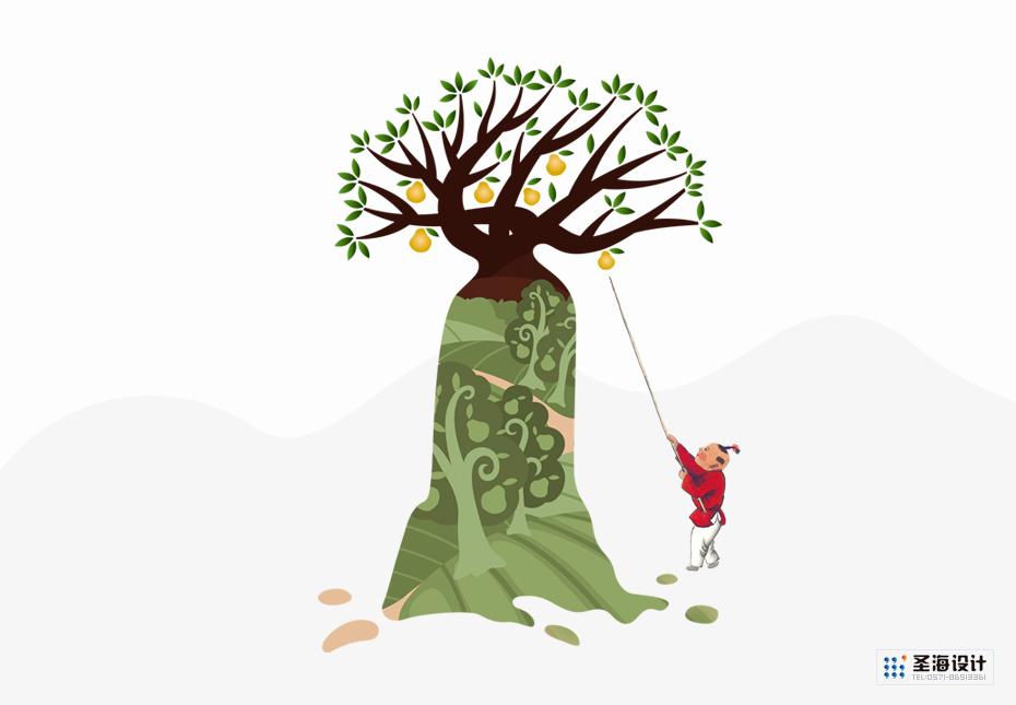梨興園包裝插畫|梨興園品牌|杭州包裝設計有限公司|品牌包裝設計