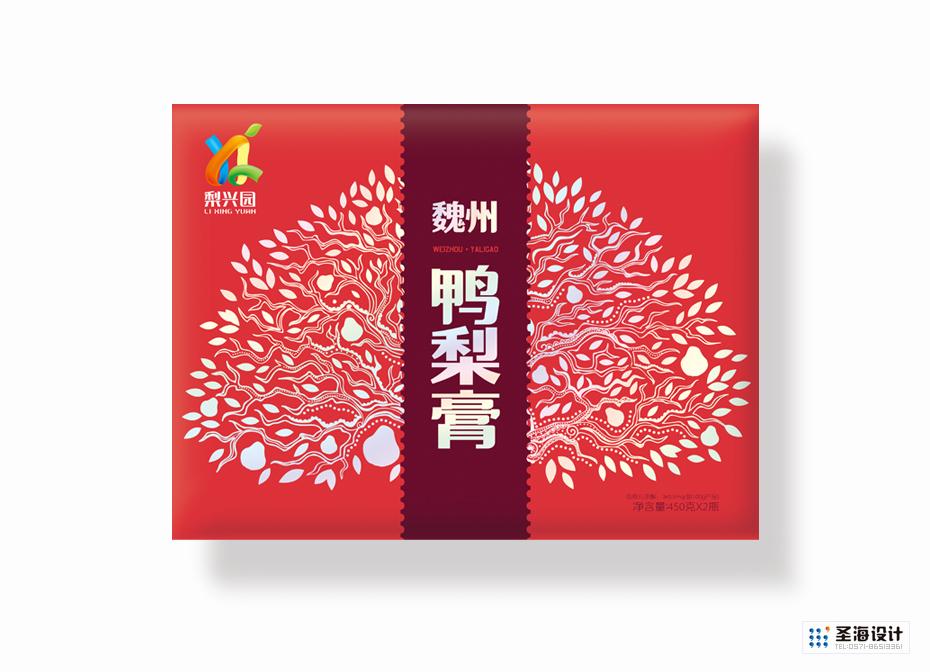 梨興園魏州鴨梨膏禮盒裝|梨興園品牌|杭州包裝設計有限公司|品牌包裝設計