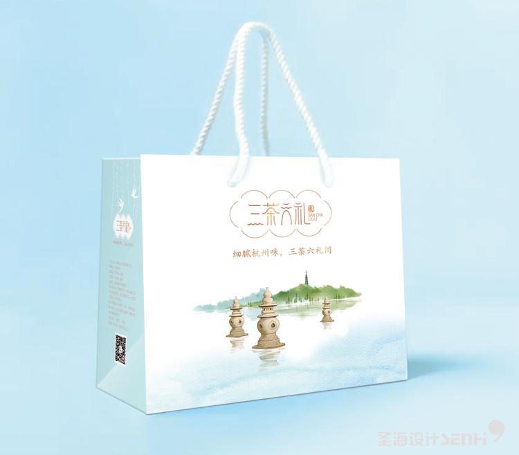杭州特产糕点套装礼盒 三茶六礼 杭州品牌 杭州圣海包装艺术设计 包装设计 杭州包装设计